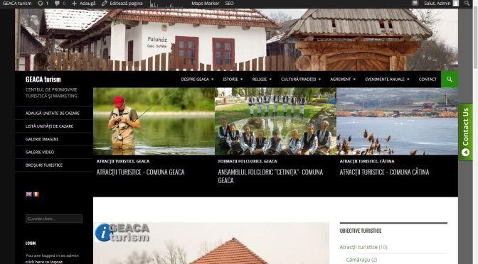 Lansare site www.geaca-turism.ro