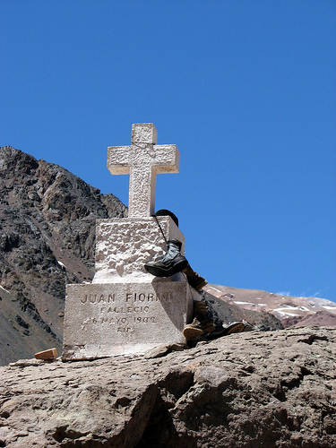 The high altitude cemetery at Aconcagua (1/2)
