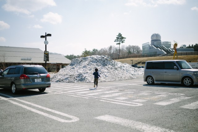 道の駅 富士吉田 駐車場(雪)