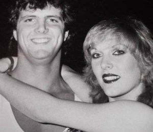 Jeanie Clarke with Chris Adams