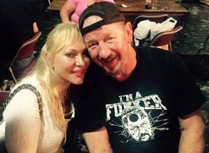 Jeanie Clarke with Terry Funk in 2016