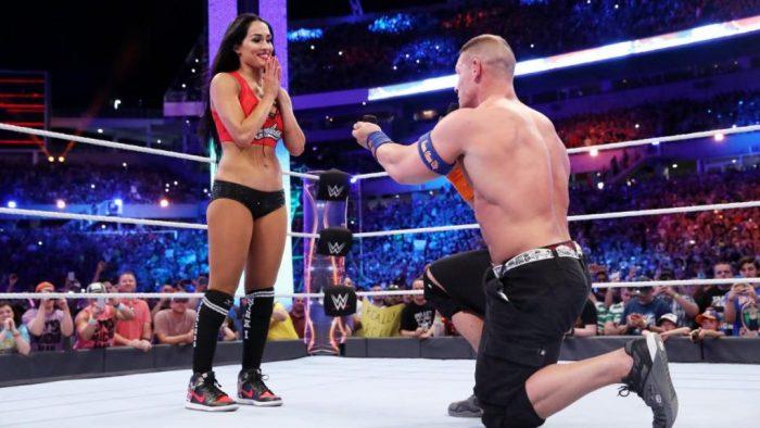 John Cena proposes to Nikki Bella Wrestlemania 33 XXXIII