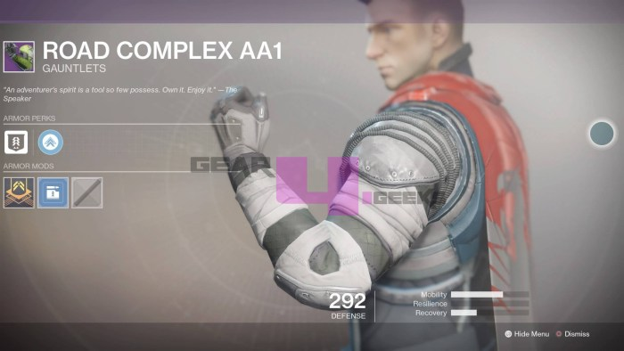 Destiny 2 Road Complex AA1 Fixed