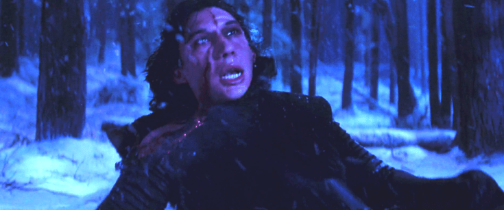 Everything Wrong with Star Wars The last Jedi Kylo Ren Scar