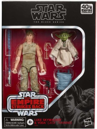 Star Wars The Black Series Deluxe Luke Skywalker and Yoda Dagobah Training 2 Pack