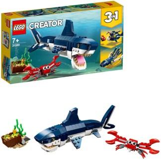LEGO 31088 Creator Deep Sea Creatures Shark Squid Angler Fish 3 in 1