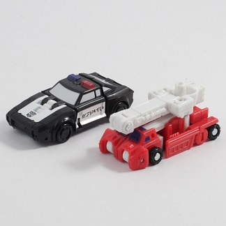 Transformers War For Cybertron Siege Red Heat and Stakeout Micromasters PREOWNED