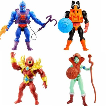 Masters of the Universe Origins Wave 6 Set of 4 Action Figure Toys (EU Packaging)