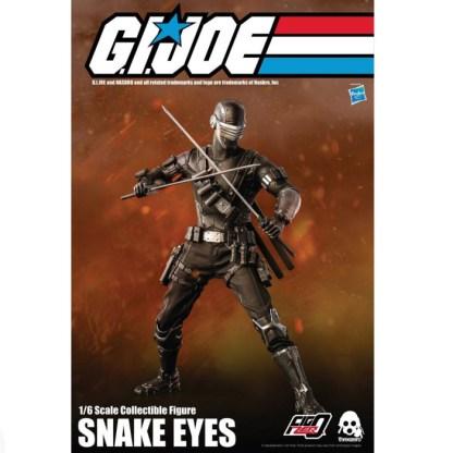 GI Joe Threezero FigZero 1/6 Snake Eyes Action Figure