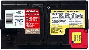 AC Delco AGM Specs