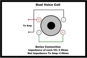 Dual voice coil series Connection