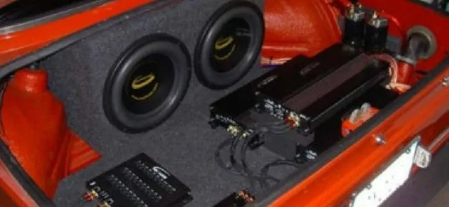 amplifier and speakers