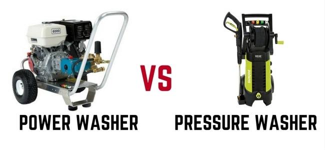 Power washer vs pressure washer