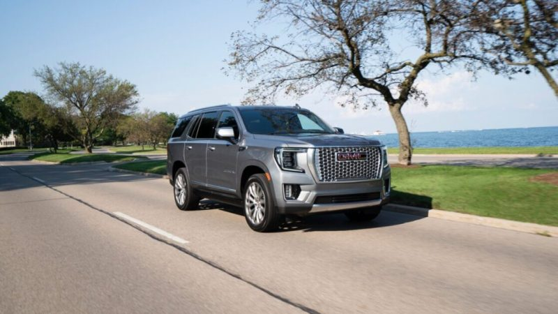 These 12.6-inch rear screens on the 2021 GMC Yukon Denali are incredible