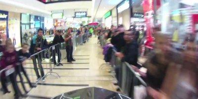 Downhill Bike Racing In A Mall 2