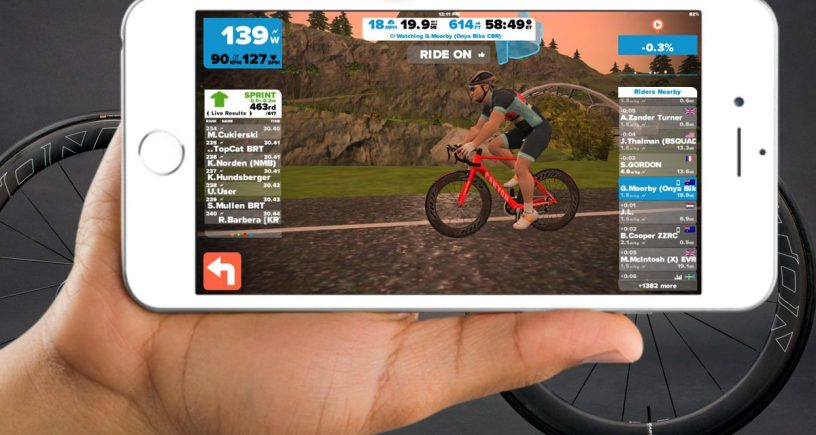 zwift for ios ride any course
