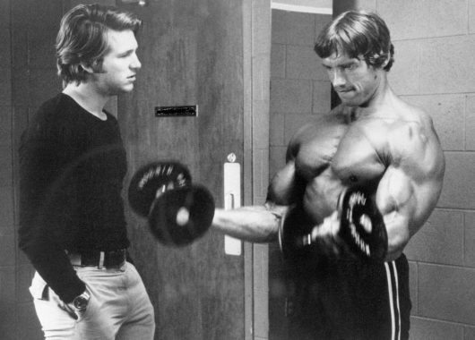 Arnold Schwarzenegger with Jeff Bridges