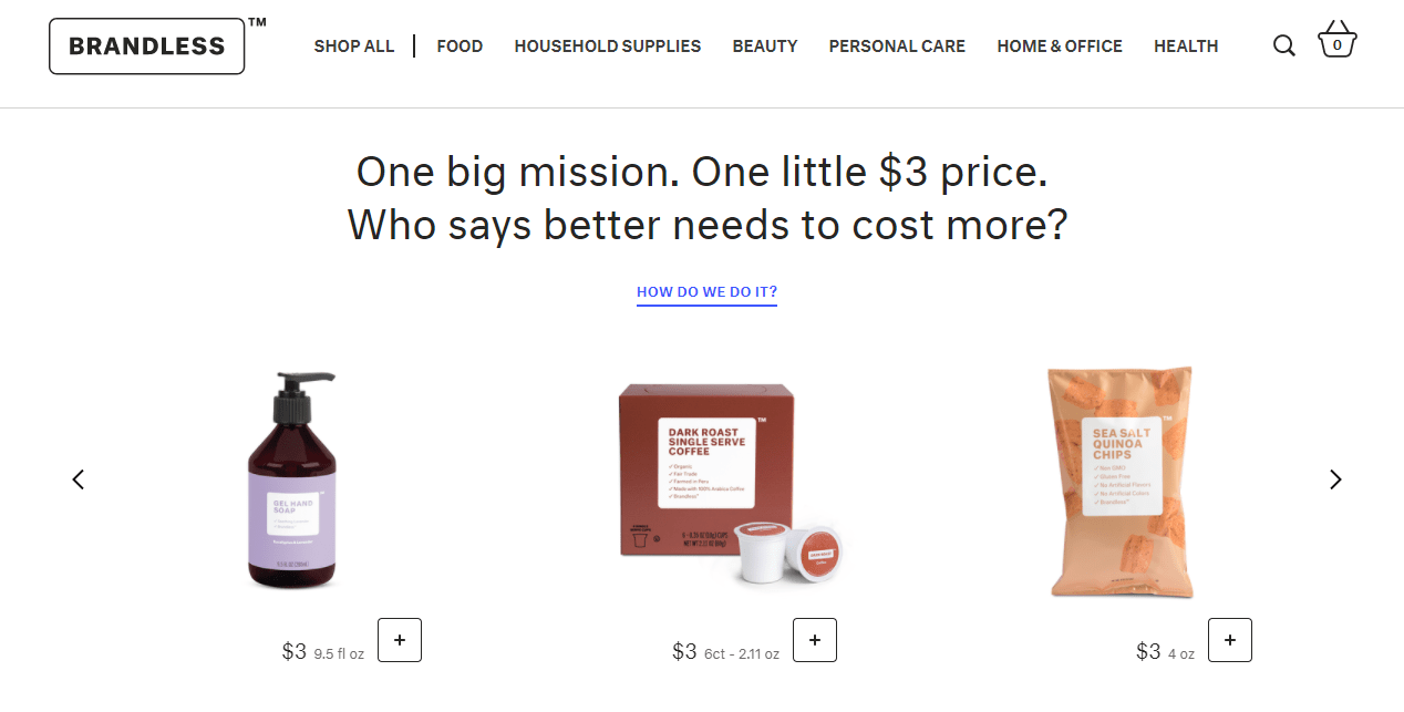 Brandless Offers $3 Groceries and Household Essentials 6