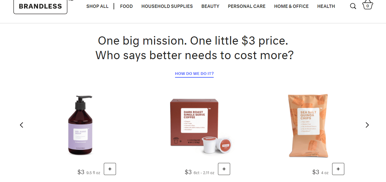 Brandless Offers $3 Groceries and Household Essentials 1