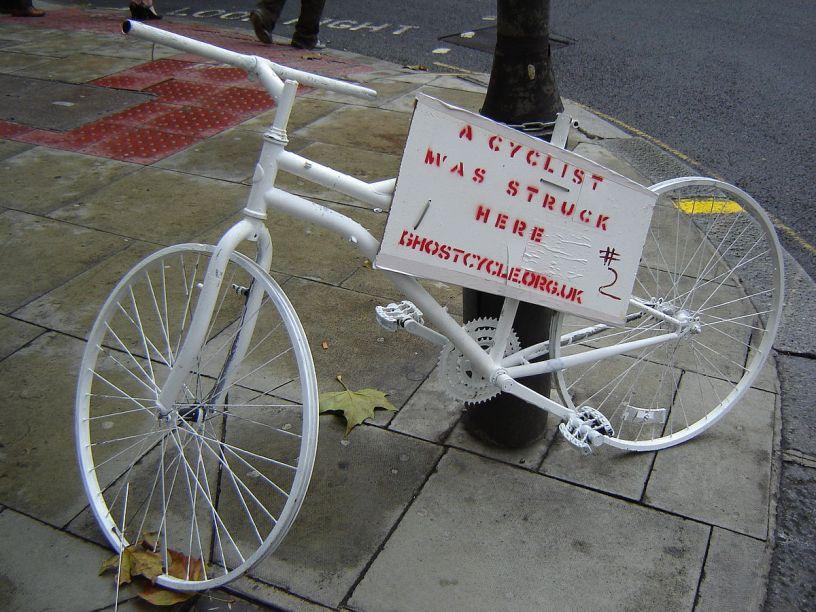 Ghost Bikes – A Profile of the Man Who Creates Memorial Bikes Found Around New York City
