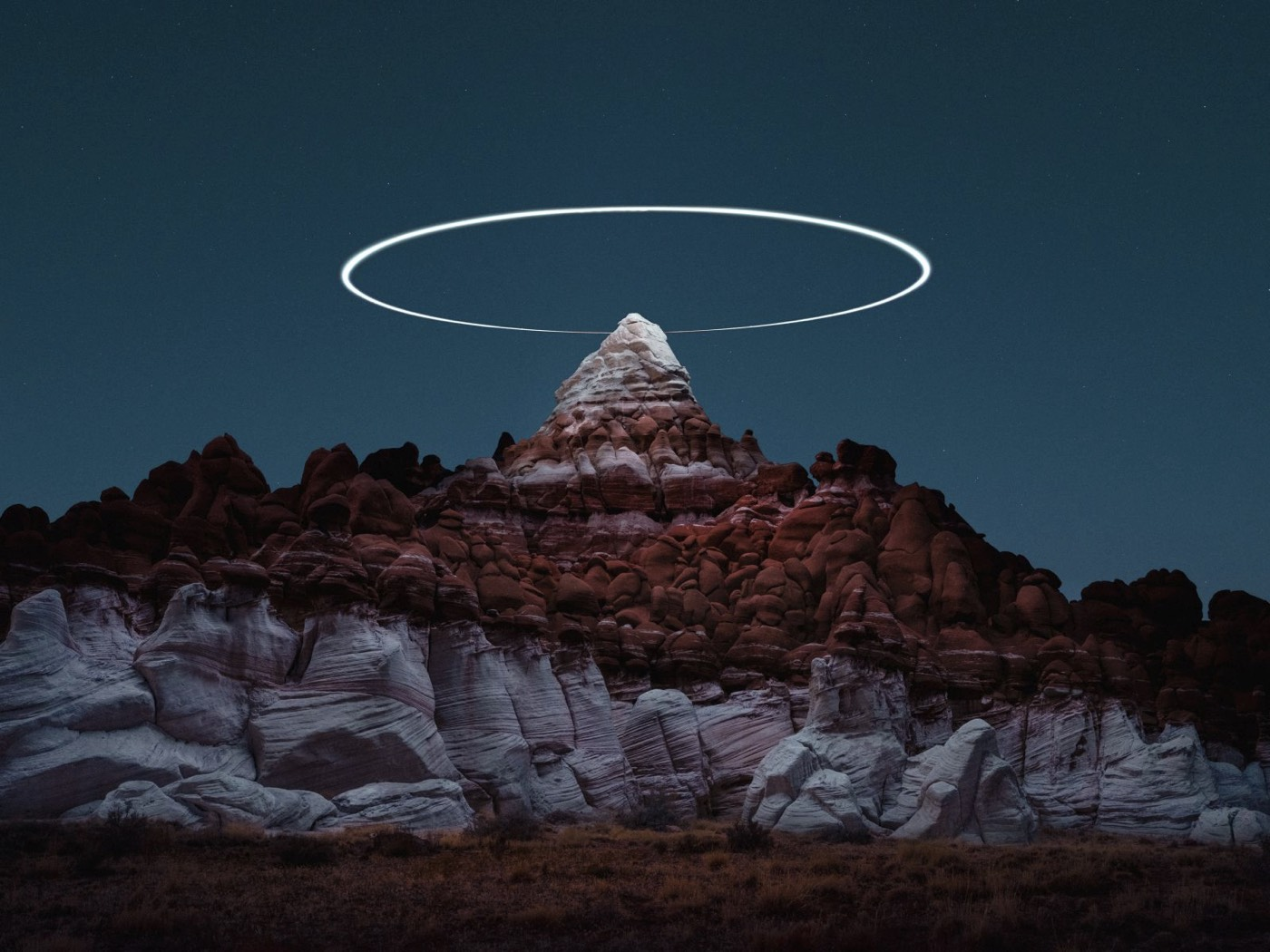 Mountains Haloed by Drone Light 6