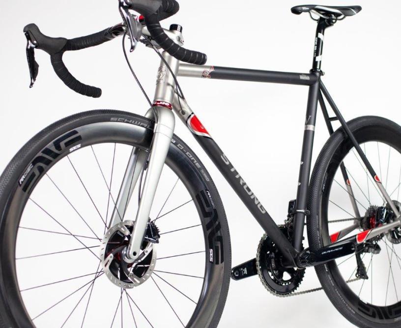 Tejay Van Garderen's Strong Frames Ti Gravel Bike