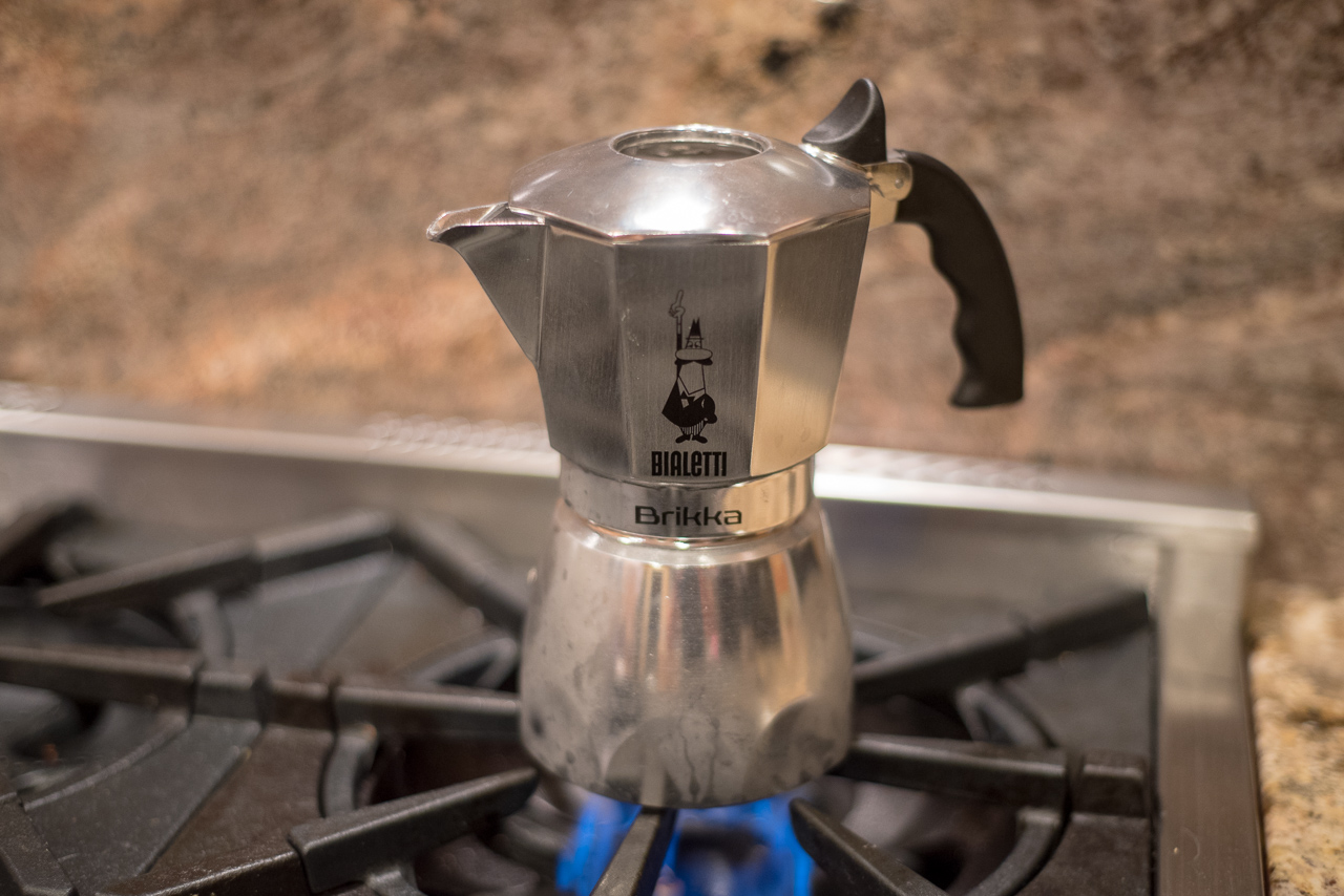 Bialetti Brikka and Grinder 28