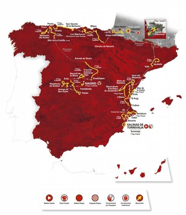2019 Vuelta a España Route Includes 59 Categorized Climbs 24