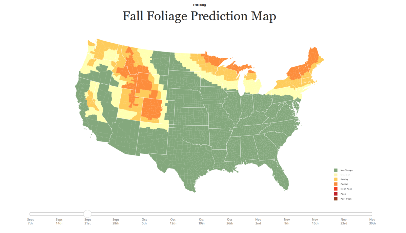 Use the 2019 Fall Foliage Map to Plan a Scenic Ride 1