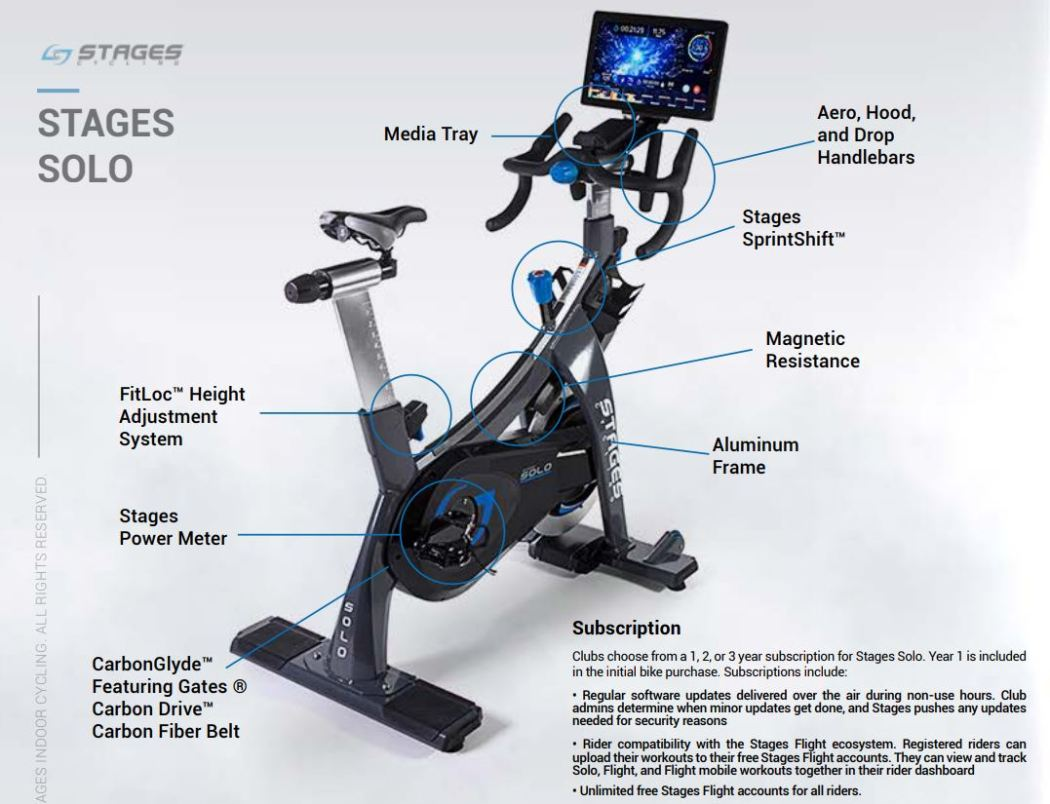 Stages Launches Exercise Smart Bike 2