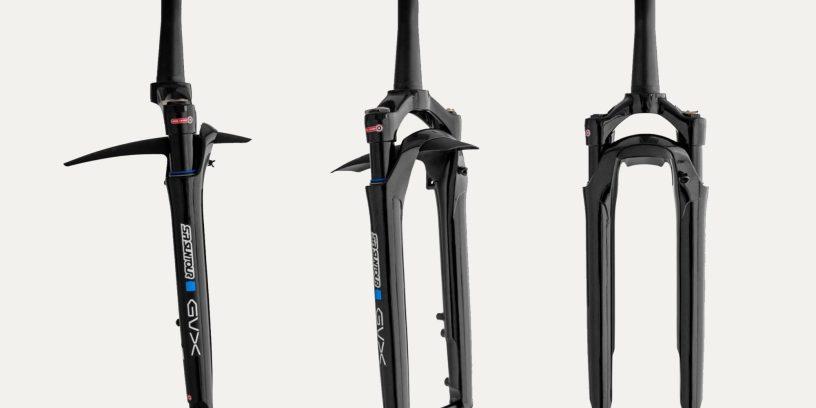 The New Suntour GVX Fork Offers 40, 50, 60mm of Travel for Gravel Bikes
