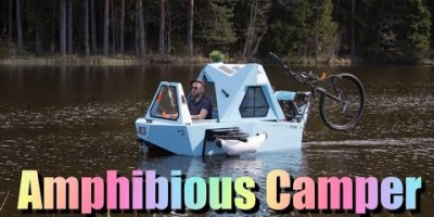 Z-Triton is an All-In-One Bike, Boat, and Camper
