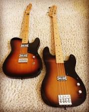 Fender Cabronita guitar and bass