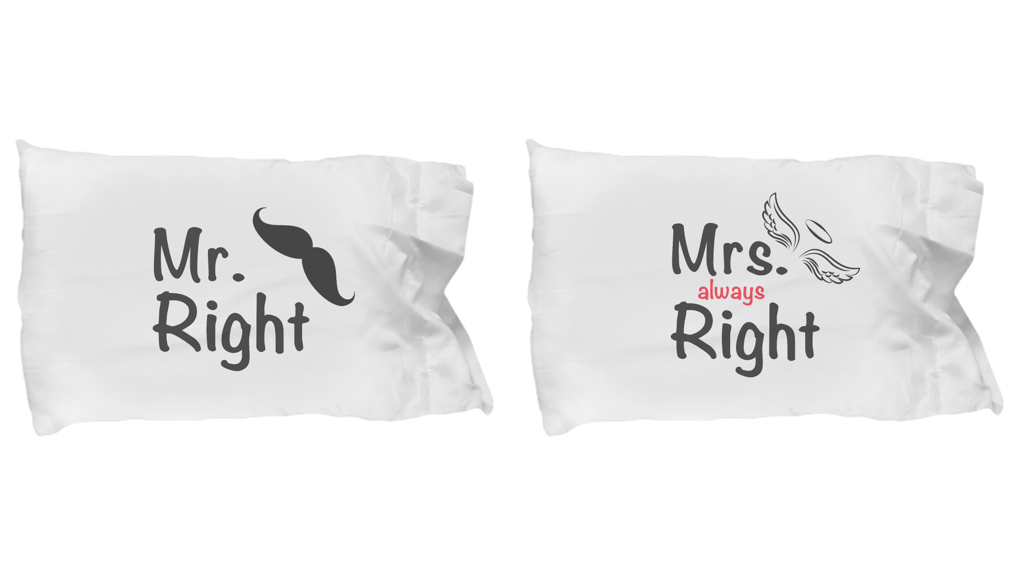 Mr Right Mrs Right Bettwäsche Mr Right Mrs Always Right Pajamas