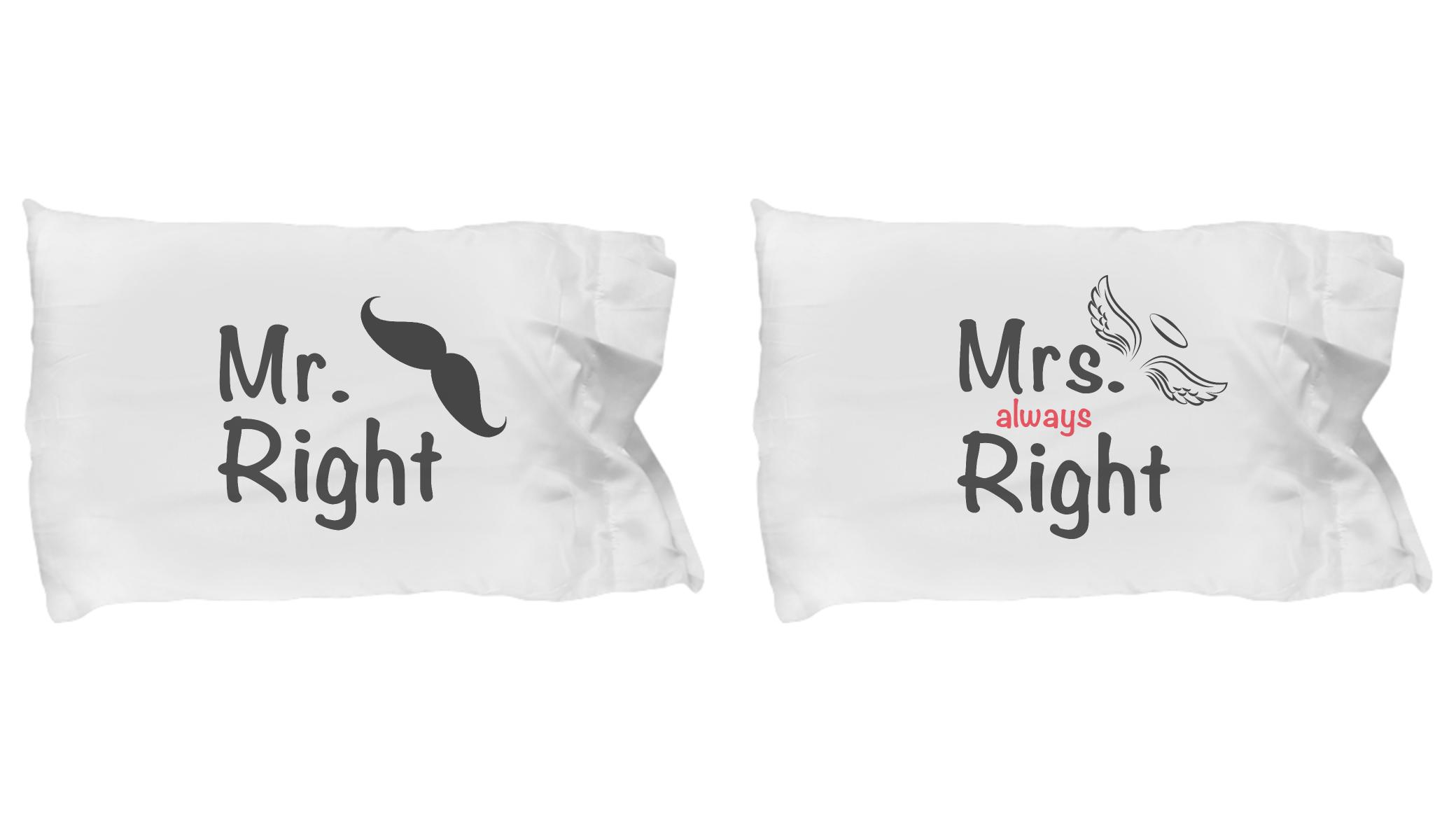 Mr Right Mrs Right Bettwäsche Mr Right Mrs Always Right Pajamas