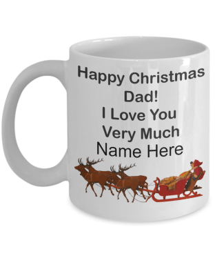 Happy Christmas Dad Mug