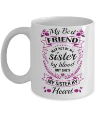 """Best Friend Mug - """"My Sister By Heart"""""""