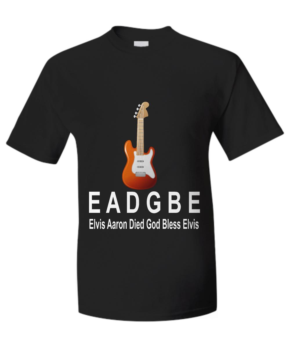 Guitar String Mnemonic : guitar, string, mnemonic, Guitar, Strings, Mnemonic, T-Shirt, EADGBE
