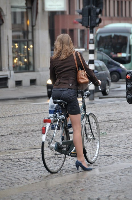 Ride a Bike in Skirt without Flashing