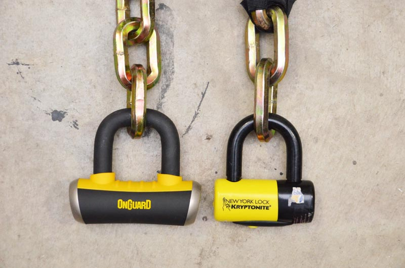 OnGuard vs Kryptonite Bike Lock Side by Side