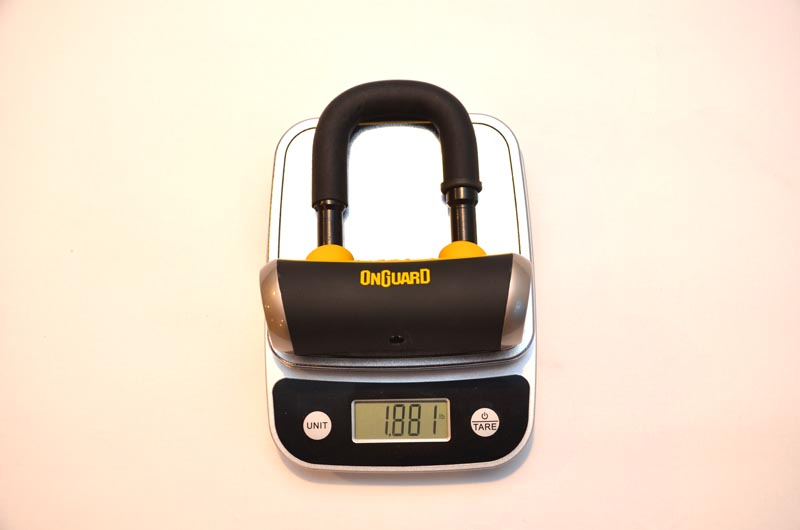 OnGuard vs Kryptonite Bike Lock weight