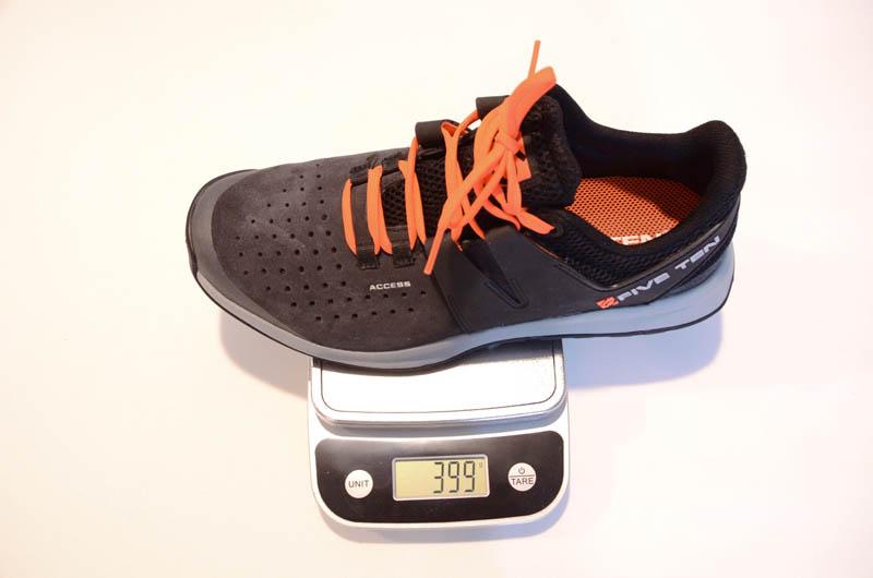 Five Ten - Access Shoe Review - Weight