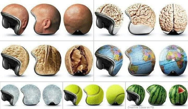 Funniest biking Helmets