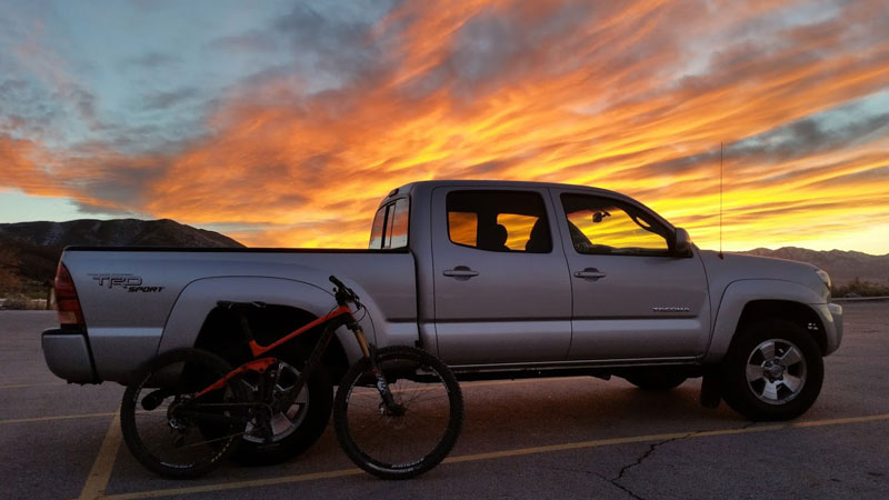 light-and-motion-seca-review-truck-bike-sunset