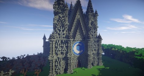church minecraft build cathedral epic dead showcase gearcraft front