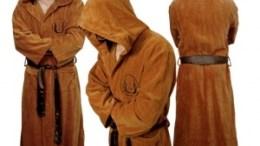 Jedi bathrobe keeps you warm while you use the force to make breakfast