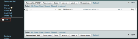Android Users - Back Up Your SMS Messages to Gmail