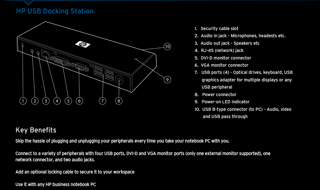 Review  Hp Usb 2 0 Docking Station