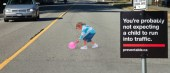 Child in road illusion