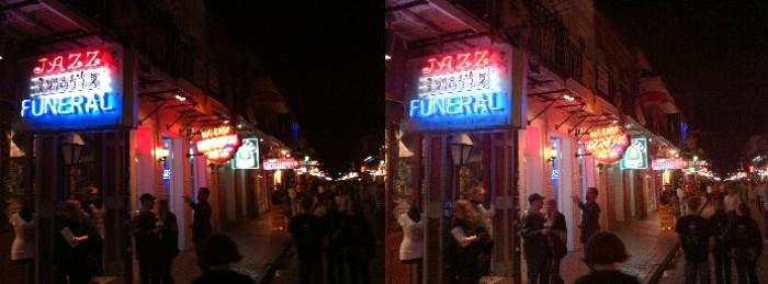 Bourbon Street night life, HDR image at right.